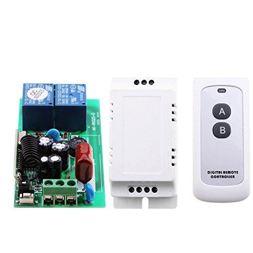 Baoblaze Commutateur De Télécommande sans Fil Récepteur Transmetteur Relais 2 Channel LED Light Switch