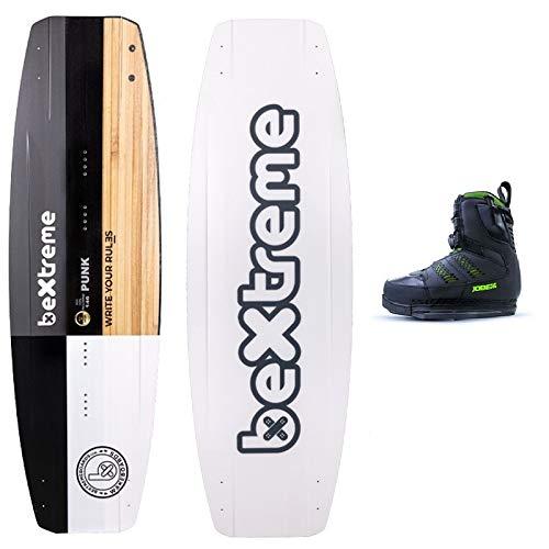 Bextreme Wakeboard Punk 146cm + Wakeboard Jobe. Wake für Kabel, Wakepark und Boot, geeignet für Kiteboard. Wake Board für Herren Eco, Botas Jobe Nitro 42-43 EU