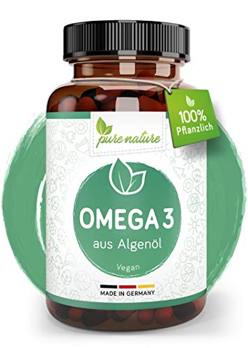 OMEGA 3 VEGAN I DHA & EPA - 1668mg Vegan Omega 3 pro Tagesdosis I 60 Kapseln I Reines Algenöl I pflanzlich & hochdosiert I Essentielle Fettsäuren