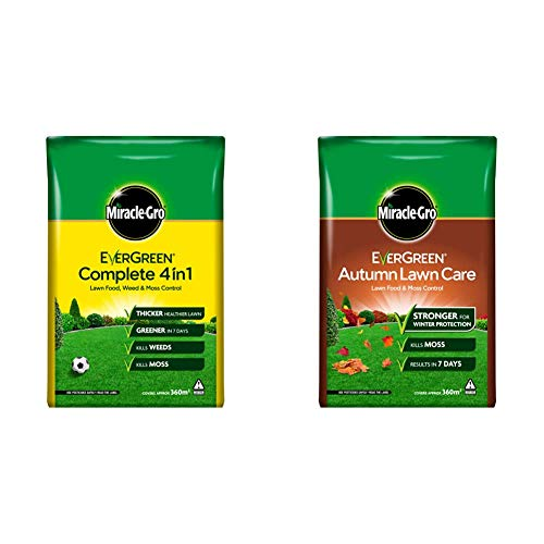 Miracle-Gro EverGreen Complete 4in1 12.6kg - 360m2 & EverGreen Autumn...