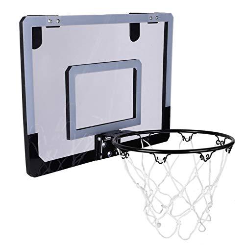 minifinker Tablero de Baloncesto de PVC, Juego de Baloncesto para niños, Sistema Duradero montado, aro de Baloncesto, montado en la Pared para niños