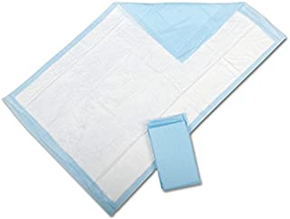 """Medline Industries, Inc. MSC281224C Ultra Lightweight Tissue and Plastic 17"""" x 24"""" Disposable Underpad, Great For Changing Table and Surfaces, 300 Per Case, Blue"""