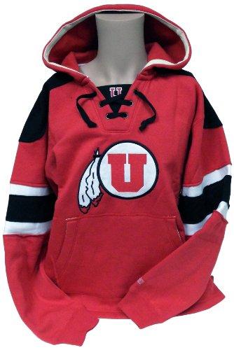 Donegal Bay Unisexs Utah Hockey Hoodie Sweater, Crimson-wit, S