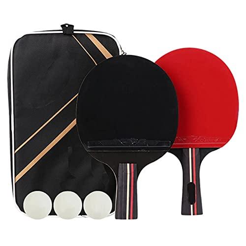 YRRC 10 Packs Table Tennis Bat,Portable Table Tennis Rackets and Balls Ideal for Children Adults Indoor Outdoor Activities,School Sports Goods Procurement,Penhold Shot