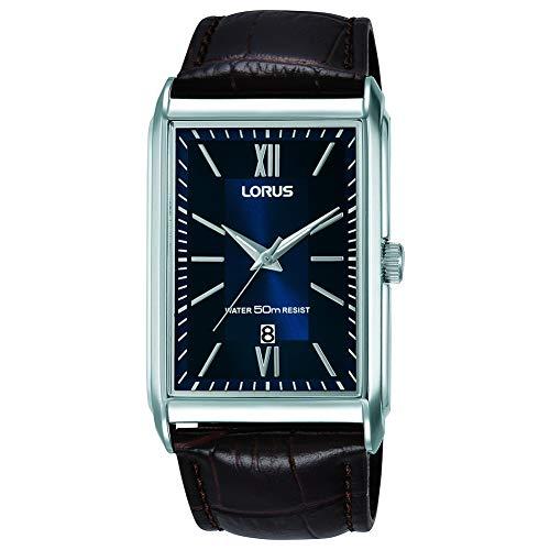 Lorus Herren Analog Quarz Uhr mit Leder Armband RH911JX9