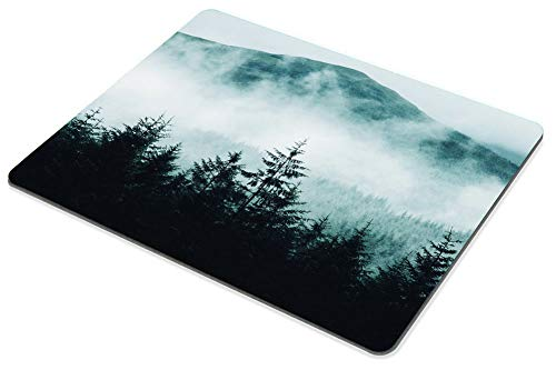 Smooffly Gaming Mouse Pad Custom Misty Forest with Mountains Mousepad Non-Slip Rubber Rectangle Mouse Pads for Computers Laptop 9.5 X 7.9 Inch (240mmX200mmX3mm) Photo #4