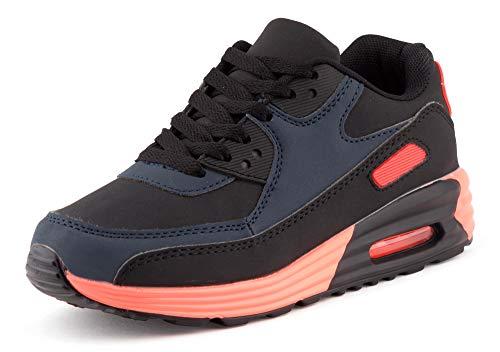 Fusskleidung Unisex Damen Herren Sportschuhe Übergrößen Laufschuhe Turnschuhe Neon Sneaker Schuhe EU Blau Schwarz Orange 41