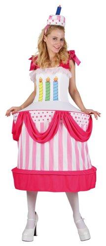 P 'tit Clown 86899Kostüm Erwachsene Damen Geburtstagstorte–Einheitsgröße–Mehrfarbig