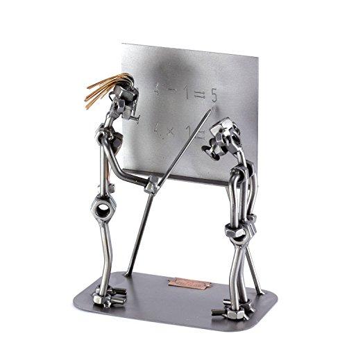 Steelman24 I Profesora con Estudiante I Made in Germany I Idea para Regalo I Figura de metalo