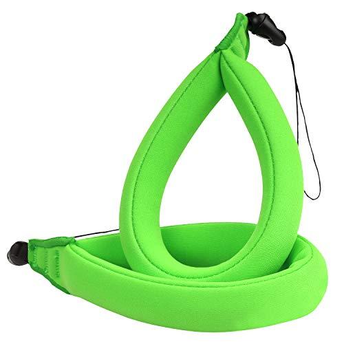 MoKo wasserdichte Kamera Schwimmer Handschlaufe - (2-Stück) Schwimmende Armtrageschlaufe Float Strap für Ihre Unterwasserkamera, GoPro, Nikon, Olympus, Canon, Panasonic Lumix, Grün