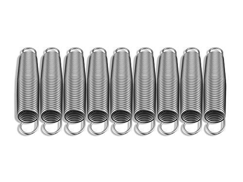 9molle sostitutive per tappeto elastico, 14cm, in acciaio zincato, per tappeti da 1,8m, 2,4m, 3m, 3,7m, 4,3m