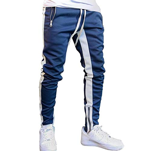 LIMILI Pantalones de chándal para hombre, color negro, para el tiempo libre,...