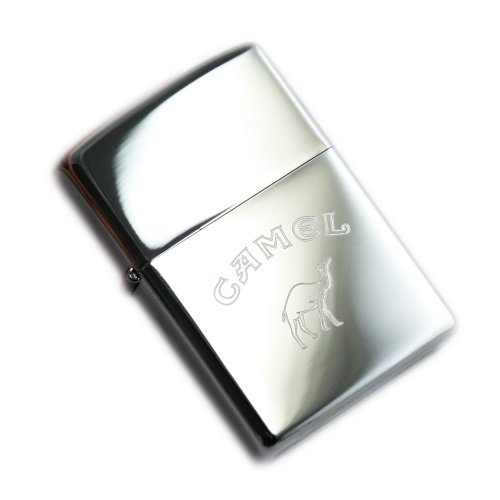 Zippo 1110012 Camel Words Bottom - Chrome high Polished