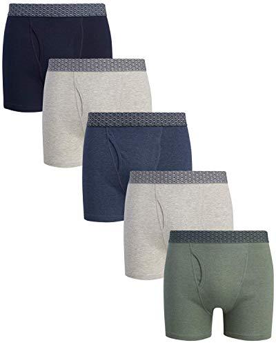 Van Heusen Herren Boxershorts aus Baumwolle, mit funktionalem Hosenschlitz - - X-Large