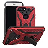 COOVY® Funda para Apple iPhone 7 + Plus de plástico y Silicona TPU, extrafuerte, protección contra Golpes, Funda con función Atril | Rojo