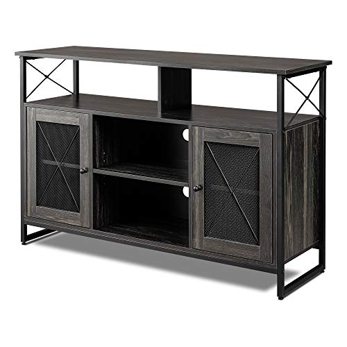 WLIVE TV Stand for 55 inch Flat Screen, 50 inch TV Console with Storage Cabinet, Entertainment Center for Living Room, Bedroom