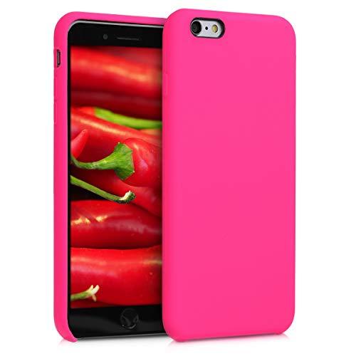 kwmobile Cover Compatibile con Apple iPhone 6 Plus / 6S Plus - Cover Custodia in Silicone TPU - Back Case Protezione Cellulare Rosa Shocking