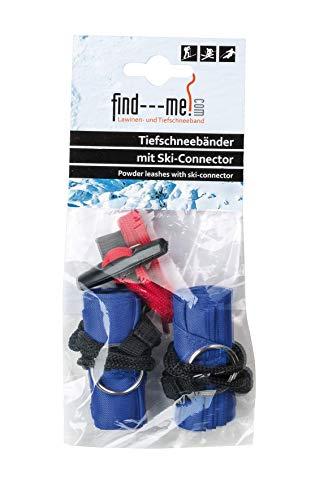 find---me! Tiefschneeband mit Ski-Connector 200 x 5,5 cm blau und rot a_NA