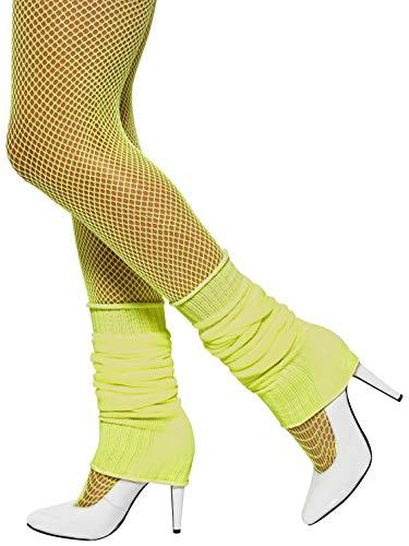 Smiffys Damen Beinstulpen, One Size, Neon Gelb, 32799