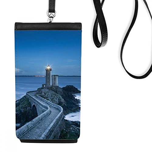 Ocean Dark Tower Picture Art Deco Gift Fashion Phone Wallet Bolsa suspensa para celular bolso preto
