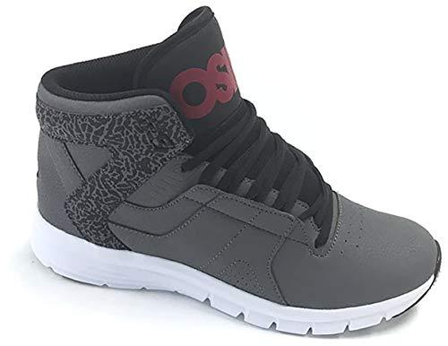 Osiris Equinox Skate Shoes Mens Sz 9 Charcoal/Red