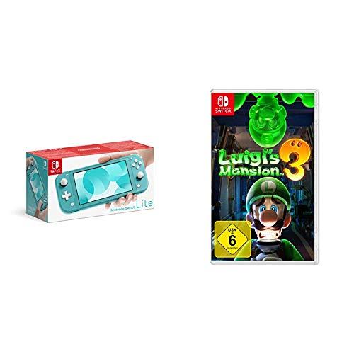Nintendo Switch Lite, Standard, türkis-blau + Nintendo Luigi's Mansion 3 - [Nintendo Switch]