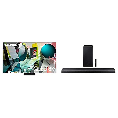 "Samsung 65"" Q900TS QLED 8K UHD Smart TV with Alexa Built-in QN65Q900TSAFXZA 2020 with Samsung HW-Q800T/ZA Soundbar"