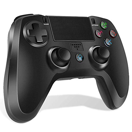 PS4 Controller Wireless Gamepad Dual Shock Gaming Controller for Playstation 4/Pro/Slim/PS 3 with Dual Vibration Game Joystick,6-axis Gyro Sensor,Audio Function, Mini LED Indicator,500mAh
