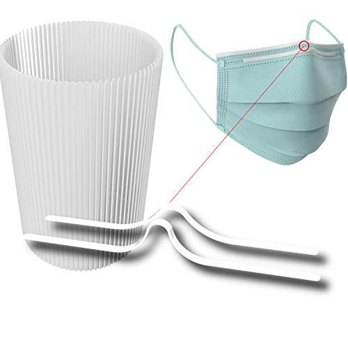 dok protektor® 25 hochwertige Nasenbügel für Mundschutzmasken/Behelfsmasken - Metallbügel für sicheren Halt - Kunststoff ummantelt - 25 Stück