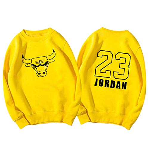 HYF Felpa da Basket Jordan 23 di Chicago Bulls, Girocollo da Uomo e da Donna