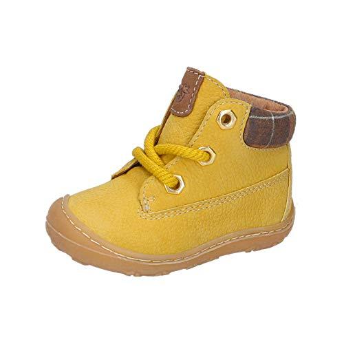 RICOSTA Unisex - Kinder Lauflern Schuhe Terry von Pepino, Weite: Mittel (WMS), Freizeit leger schnürschuh schnürstiefelchen,senf,19 EU / 3 Child UK