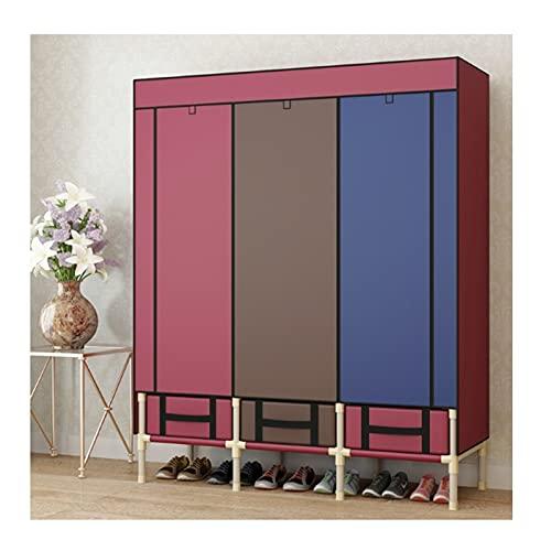LICHUAN Armario de almacenamiento portátil para armario, organizador de armario, rápido y fácil de montar, resistente y duradero (color: C)