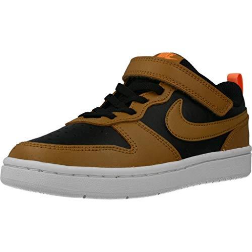 Nike Court Borough Low 2 (PSV), Scarpe da Corsa Bambino, Black/Wheat/Orange Pulse/White, 33 EU