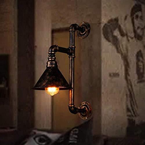 LCSD Loft Lámpara de pared industrial Lámpara mural Fondo de televisión Lámpara de pared Apliques de pared vintage Hotel Cafe Bar Lámpara de soporte Bombilla Edison E27 (excluyendo bombillas) Único Lu