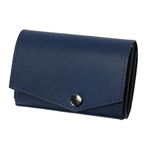 小さい財布 abrAsus アブラサス 最上級ブッテーロレザーエディション ブルー