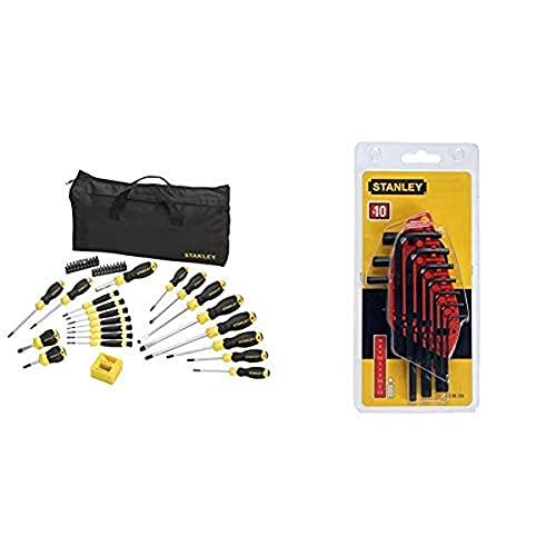 STANLEY STHT0-62113 - Set de destornilladores, 42 piezas + STANLEY 0-69-253 - Juego 10 llaves 1,5-10mm - tipo libro -