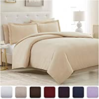Mellanni Old Variation Duvet Cover Set - Double Brushed Microfiber 1800 Bedding Collection with Bonus Pillowcases - Wrinkle, Fade, Stain Resistant - 5 Piece (Full/Queen, Purple)