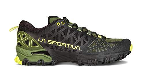 La Sportiva Men's Bushido II Running Shoe, Olive, 45.5 (12 US)