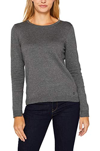 ESPRIT Damen 999Ee1I801 Pullover, Grau (Dark Grey 5 024), Medium (Herstellergröße: M)
