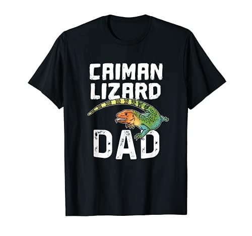 Funny Caiman Lizard Dad ギフト 水テグ ドラセナ 爬虫類 Tシャツ