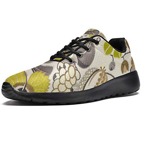 TIZORAX Sport-Laufschuhe für Herren, bestickt, Schmetterling mit Blumen, modische Sneaker, Netzstoff, atmungsaktiv, Wandern, Tennisschuh, Mehrfarbig - mehrfarbig - Größe: 41 1/3 EU
