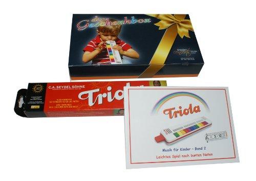 TRIOLA 12: die beliebte Blasharmonika für Kinder in der DC-Geschenkbox -- im Set mit Liederbuch Band 2 (deutsche Weihnachtslieder) in der DC-Geschenkbox