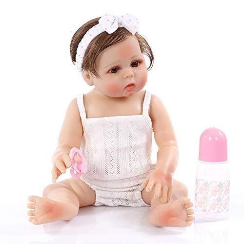 SERBHN Reborn Toy Doll 48Cm Baby PUY Pous Bath Toy Lifeelike Silicone Full Silicone Completo para Kid Navidad Aniversario Regalos De Cumpleaños-Default