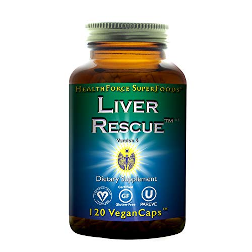 HealthForce SuperFoods Liver Rescue - 120 Vegan Capsules - All Natural Liver Detoxifier with Milk Thistle & Dandelion Root - Gluten Free - 60 Total Servings