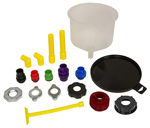 lisle funnels Lisle 24780 Spill Free Funnel with Standard/GM/VW/Ford Adapters