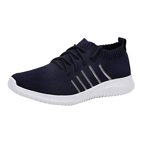 Lilicat-Herren Laufschuhe Walkschuhe Gym Freizeitschuhe rutschfeste Mode Mesh Sneakers Ultraleichte Flyknitted Trainer Schuhe Atmungsaktive Freizeitschuhe Sportschuhe Sneaker