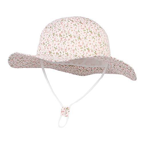 EOZY-Sombrero de Sol Bebé Niña de Protección Solar Gorro de Verano para niños Floral Baby Toddler Kids Sun-Hat para Outdoor