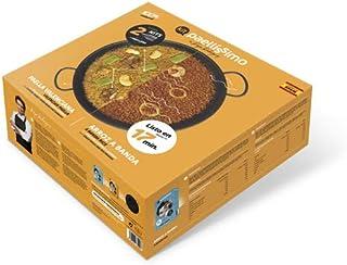 Paellissimo - Pack 1 PAELLERA para Fuego y Horno (No Inducción) de 32 cm + 2 KIT DE ARROZ / Arroz a Banda (2-3 personas) + Paella Valenciana (2-3 personas)