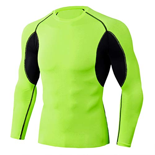 Z&Y Glaa Herren Langarm Fitness Shirt schnelltrocknend Atmungsaktiv Sportshirt...