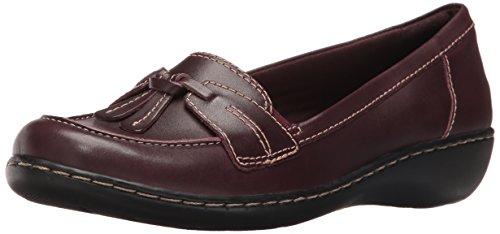 Clarks Women's Ashland Bubble Loafer, Burgundy Patent Leather, 5 M US